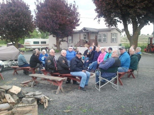 UMCI Motorcycle Rally enjoying the campfire.
