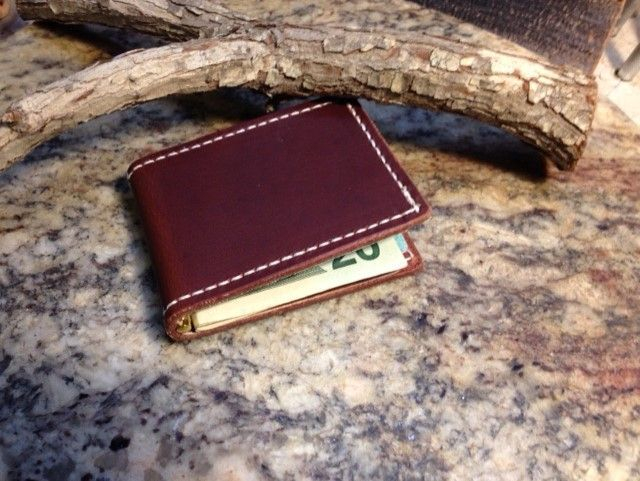 Front pocket wallet , bison , buffallo , money clip wallet , leather front pocket