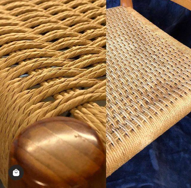 Comparison of fresh Danish cord to vintage Danish cord