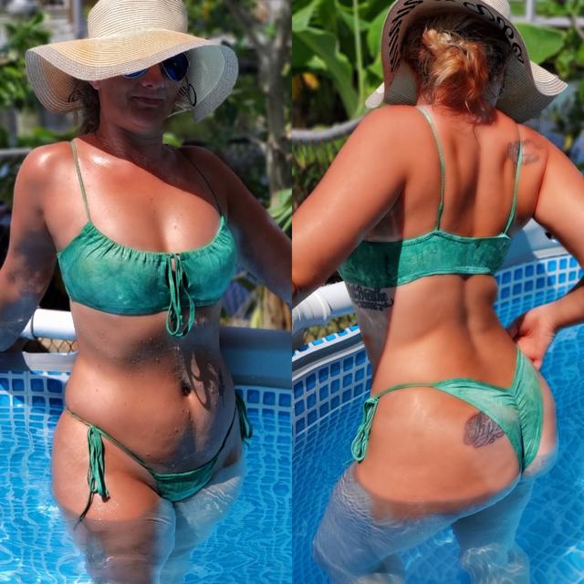 aqua  bikini