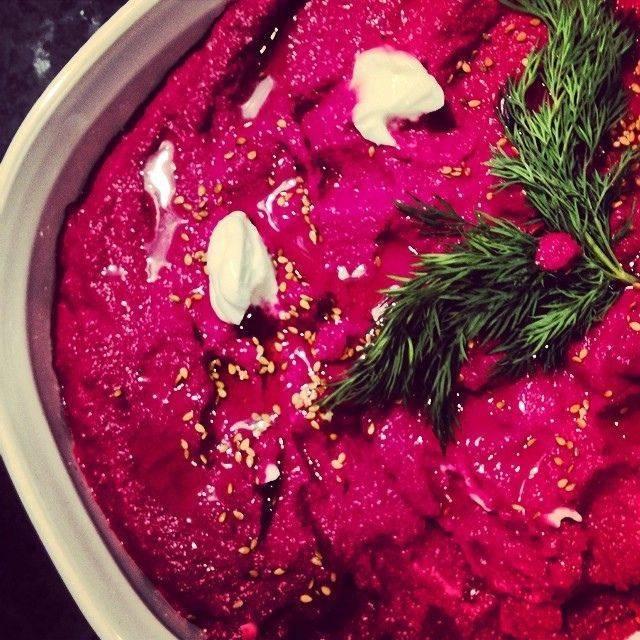 beet, sesame, tahini, beet root recipe, beet and sesame dip, recipe, david cooks dinner