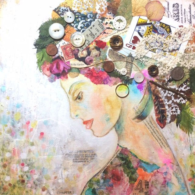 Mixed Media Collage; The Secret Garden; In The Garden; By Barbara Polc