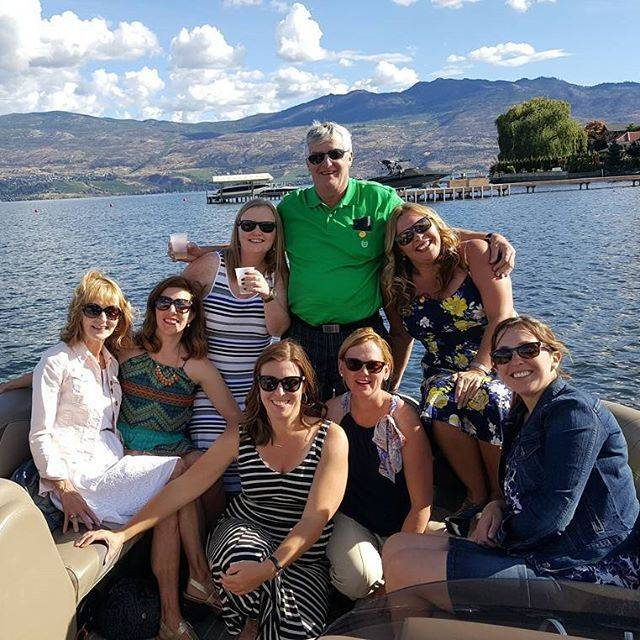 Enjoying the day on Okanagan Lake with Kelowna Boat Tours!