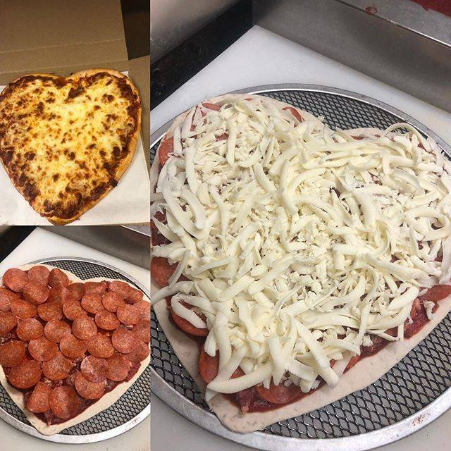 Heart Pizza from Hearthside