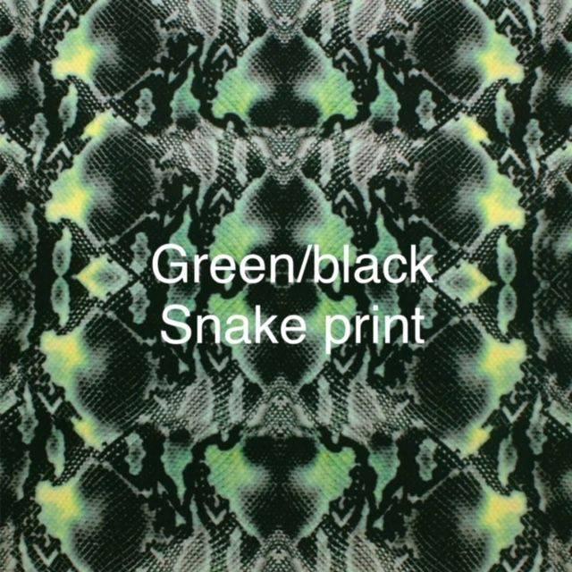 green snake print