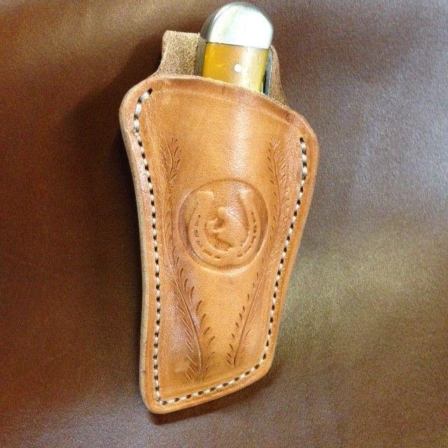 Trapper sheath , fold over sheath , cowboy sheath , trapper knife holder