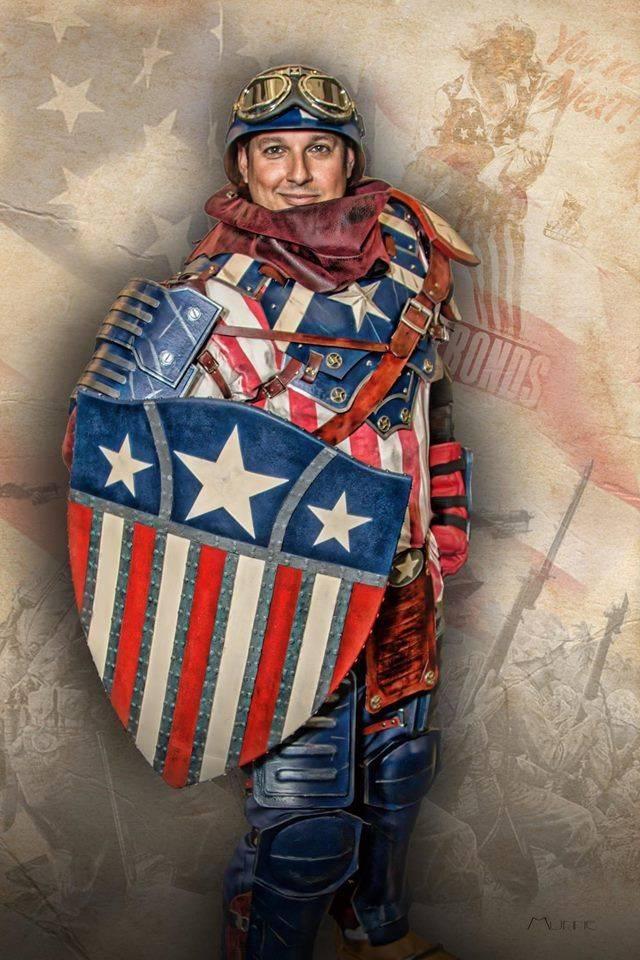 Lawrence Munne- Dieselpunk Capt. America