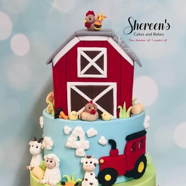 Farm Barn Cake