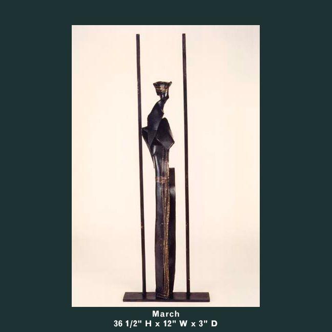 Barnett Sculpture Months Series March bronze
