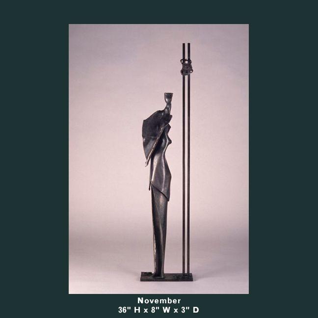 Barnett Sculpture Months Series November bronze