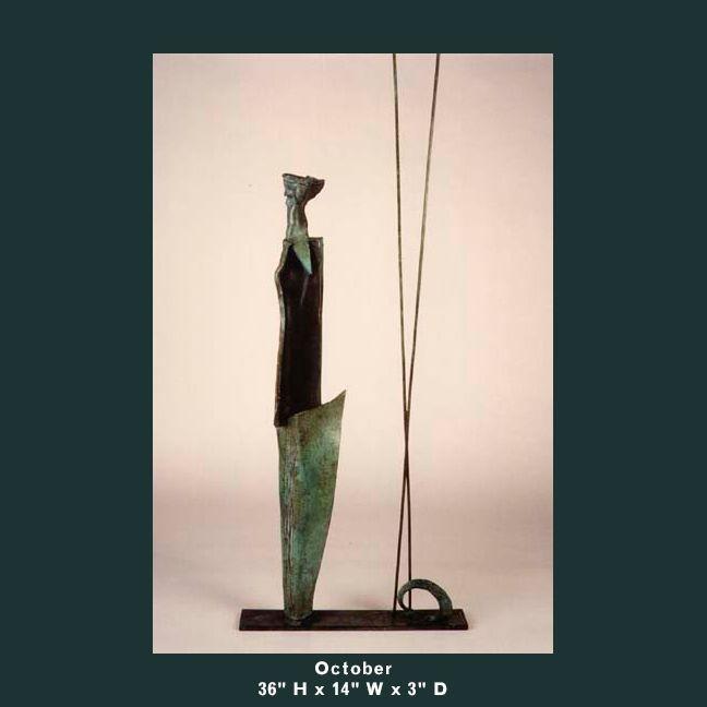 Barnett Sculpture Months Series October bronze