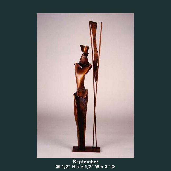 Barnett Sculpture Months Series September bronze