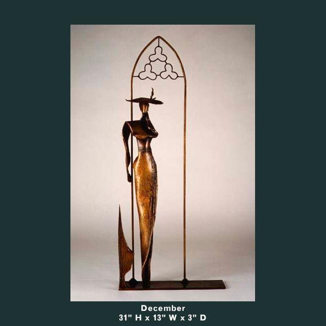 Barnett Sculpture Months Series December bronze