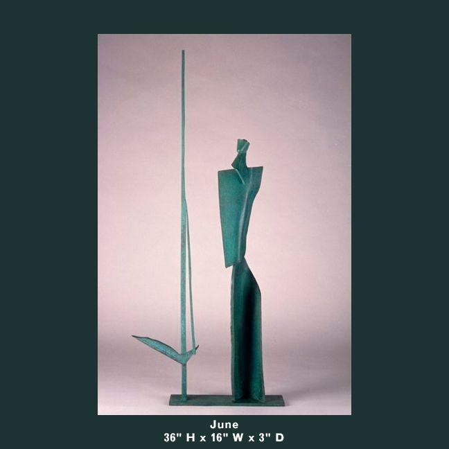 Barnett Sculpture Months Series June bronze