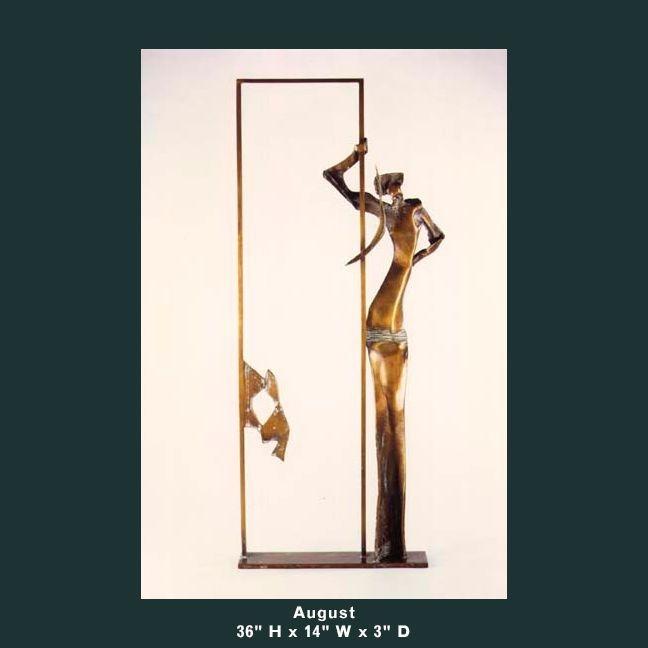 Barnett Sculpture Months Series August bronze