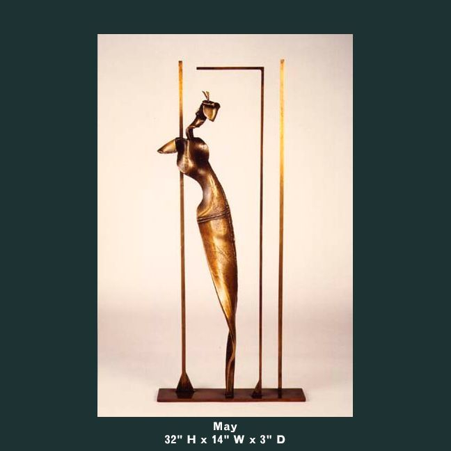 Barnett Sculpture Months Series May bronze