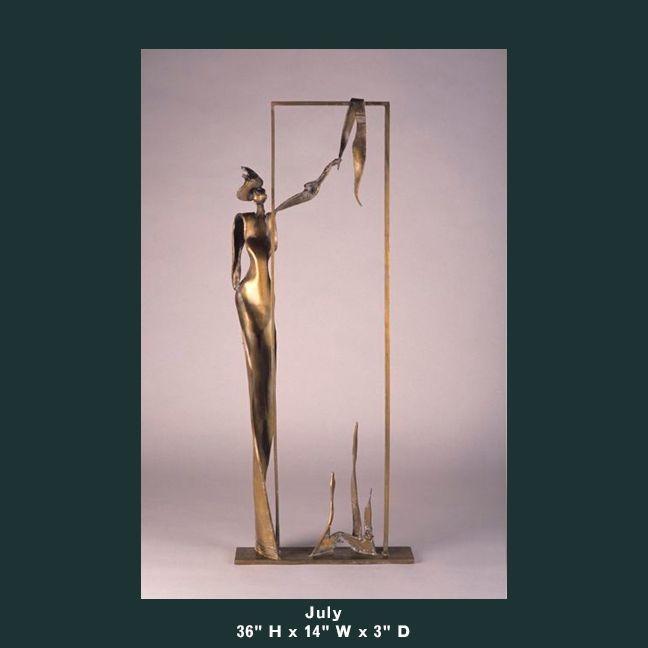 Barnett Sculpture Months Series July bronze