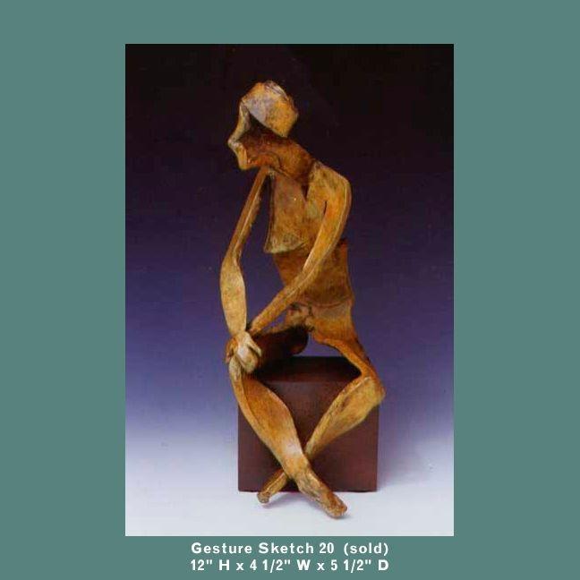 Cheryl Barnett Gesture Sketch Bronze Sculpture