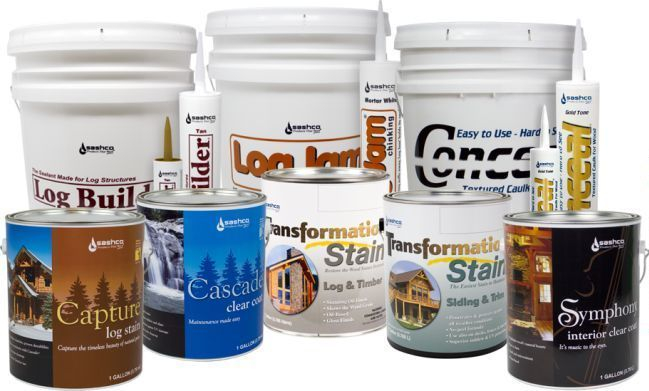 Log Home Supplies - Chinking, Stain
