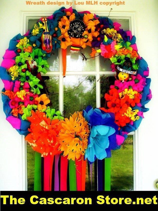fiesta & spring wreath