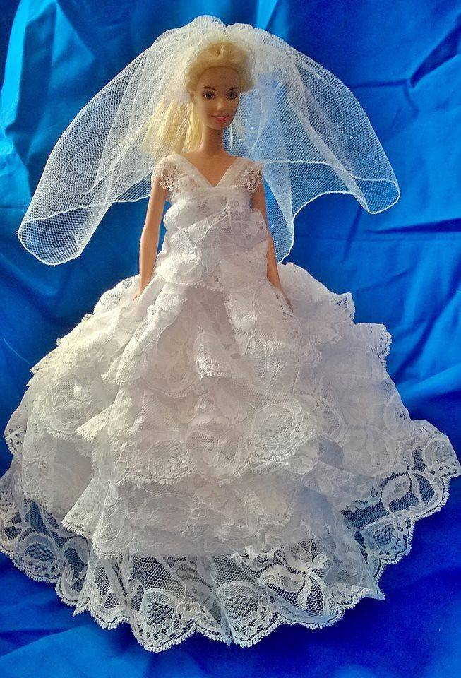 Barbie Wedding, Barbie Gown, Doll Clothes