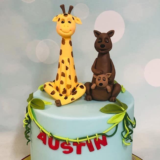 jungle birthday cake australia koala kangaroo 1st birthday first crocodile