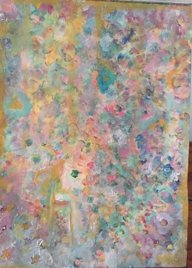 Arts, blooming, women in garden,