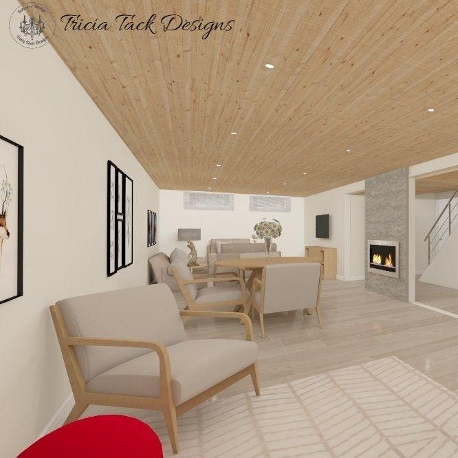 Scandinavian basement design, interior design, basement
