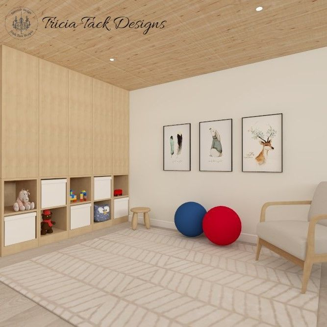 Scandinavian basement design, interior design, play room