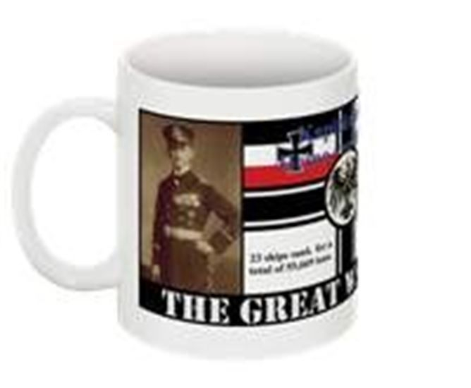 Submarine warfare collectable mug Heino von Heimburg
