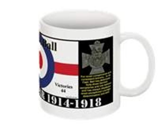 Aces of The Great War Collectable Mug Albert Ball 14 Aug 1896 – 7 May 1917 At the time of his death, he was the leading Allied ace with forty-four victories; he joined the Sherwood Foresters at the outbreak of the First World War and was commissioned as a Second Lieutenant in Oct 1914, training at Central Flying School, where he was awarded his wings on 26 Jan 1916. On 16 May 1916, Ball scored his first aerial victory, driving down an Albatros C. He was awarded the Victoria Cross for his actions from 25 April to 6 May 1917 Taking part in twenty-six combats in the air destroying eleven hostile aeroplanes, driving down two out of control, and forced several others to land. On 7 May 1917, he crashed to his death in a field in France whilst pursuing the Red Baron's brother, Lothar von Richthofen. He managed to force von Richthofen to the ground, but soon after emerged from a cloud bank upside down and hit the ground before he could recover.