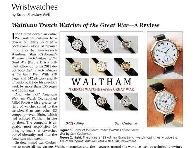 Waltham Trench Watches of the Great War, by Stan Czubernat