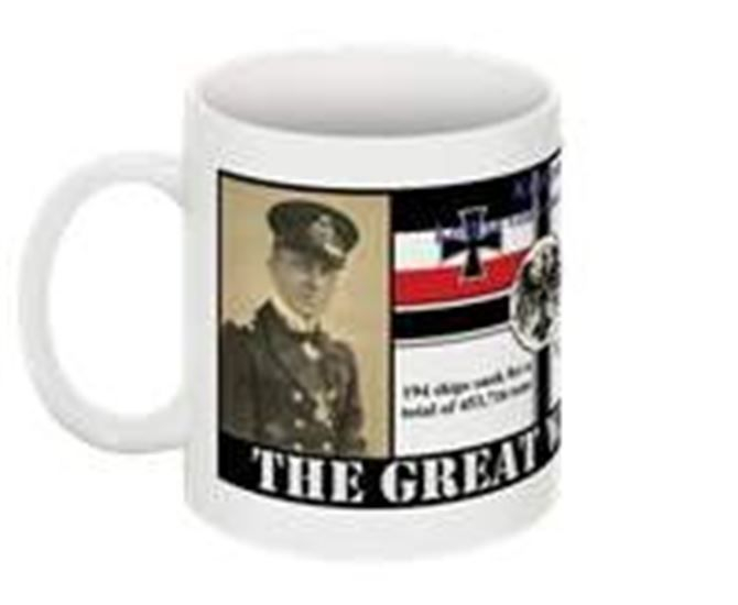 Submarine warfare collectable mug Lothar von Arnauld de la Perière