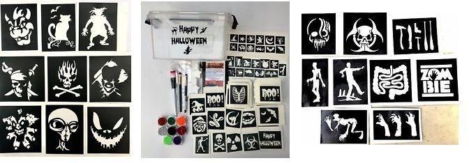 halloween glitter tattoo kits and stencils