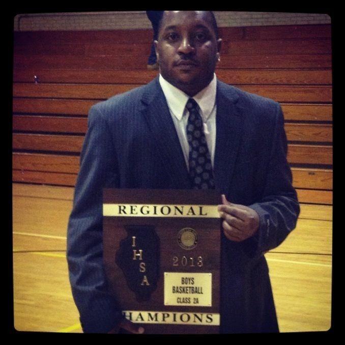 Coach Romel Bryant winning another championship