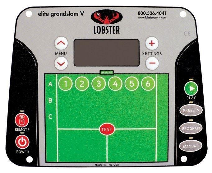 Lobster Tennis Ball Maskin Grand V kontrollpanel