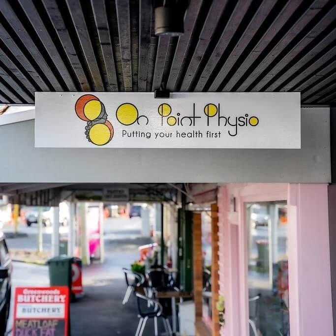 On Point Physio Ltd. - Street sign Epsom