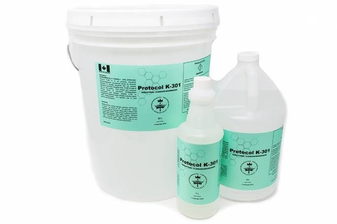 Protocol K-301 Degreaser Concentrated Ecologo CFIA Certified Oil Grease