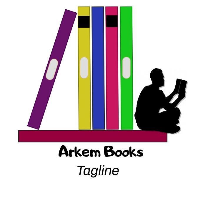 Man sitting on a bookshelf logo