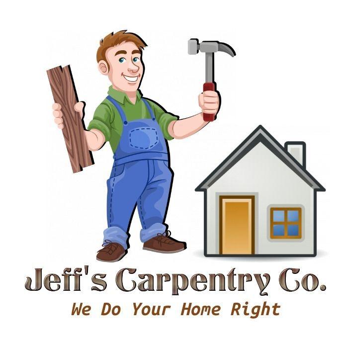 Logo House Man Hammer Carpenter Construction