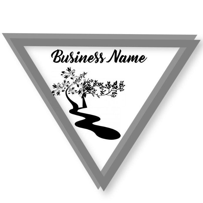 Triangle Unique river trees Logo