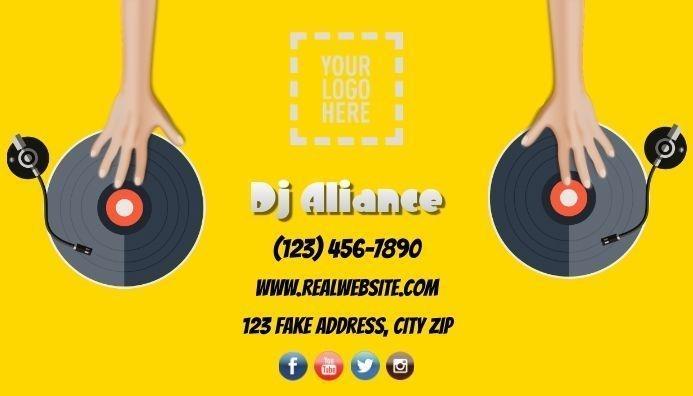 disco business card, dj business card, design template, editable template, business card design