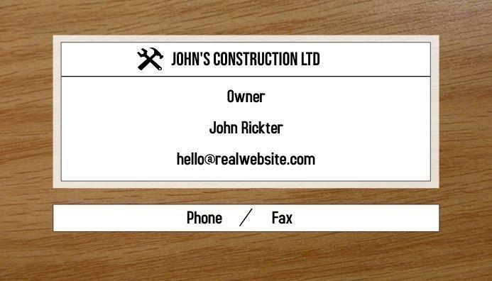 editable business card design, business card design, construction info card