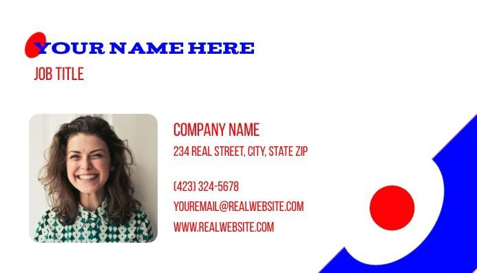 Business card editable, contact card, design template
