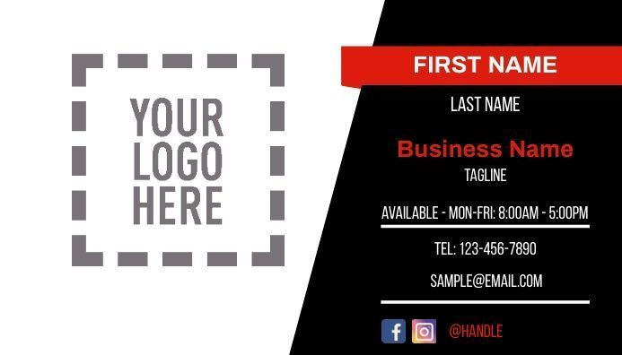 editable business card template, corporate business card