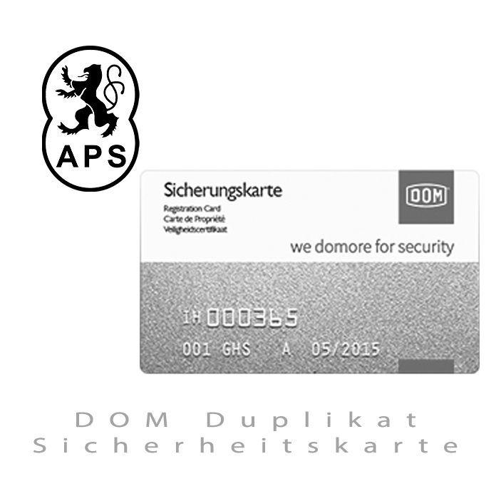 DOM Duplikat Sicherheitskarte