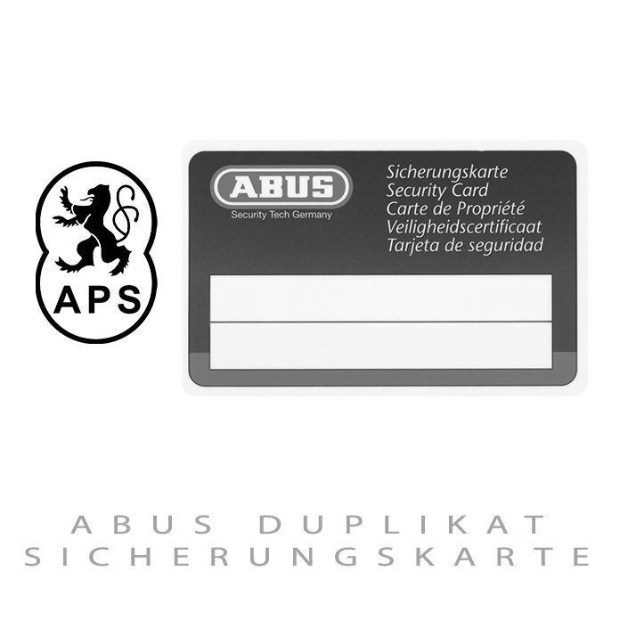 ABUS Duplikat Sicherungskarte