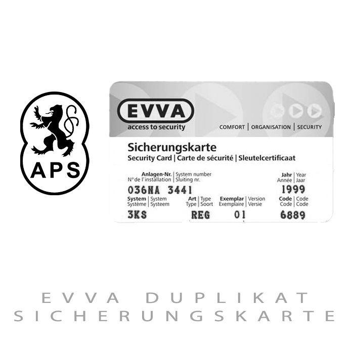 EVVA Duplikat Sicherheitskarte