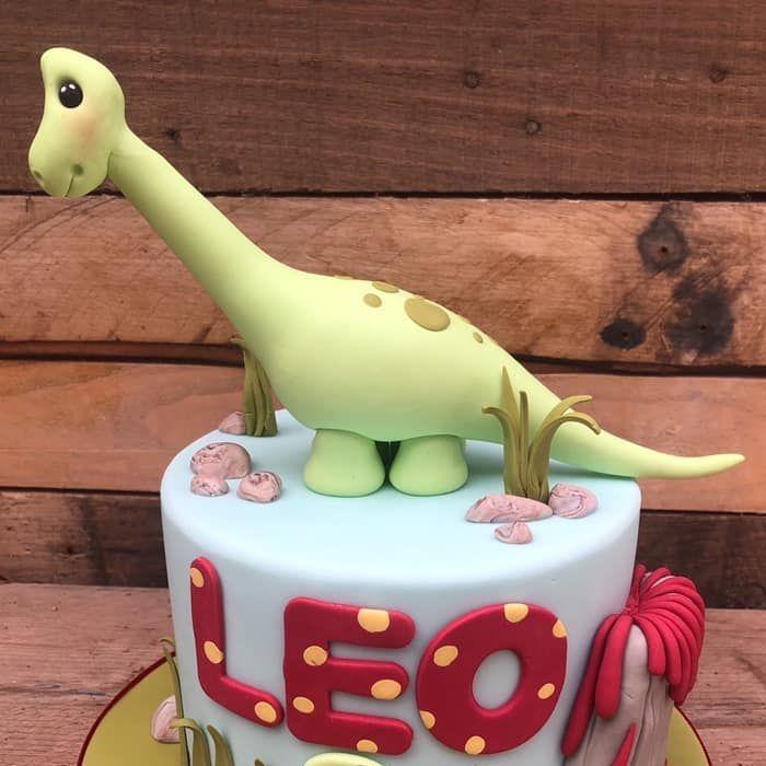 birthday cake dinosaur volcano