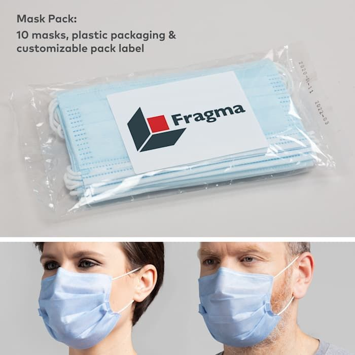 Face Masks, Polypropylene, Disposable, Branded Packaging19, Stop the Spread
